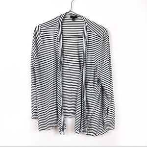 🐱 Talbots Striped Open Front Cardigan Top